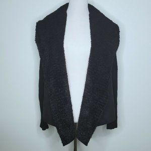 Chelsea & Theodore Cardigan Size Large Faux Suede